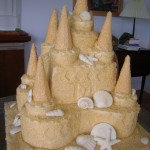 12 Beach Sandcastle Sand Castle Wedding Cake