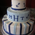 16 Beach Anchors and Fondant Stripes with Monogram