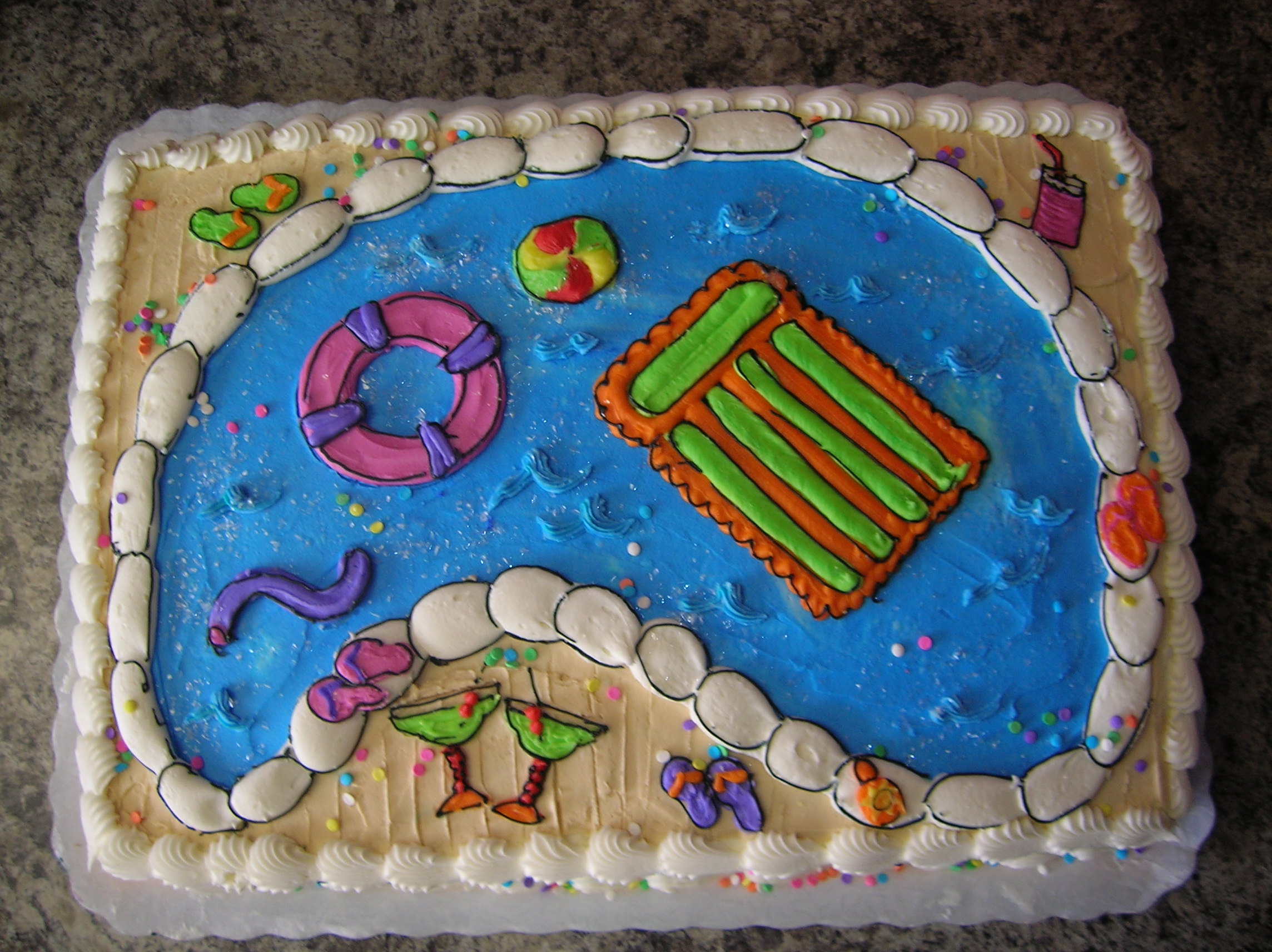 Veronica s Sweetcakes: Pool Party Cake