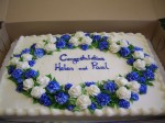 Wedding Shower Blue and White Flowers