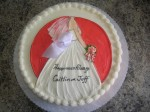 Wedding Shower Dress with red background