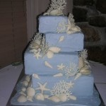 15 wedding blue coral and shells