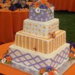 wedding purple orange butterflies