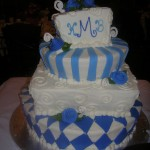 wedding blue and white alice in wonderland