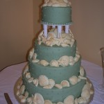 16 wedding blue shells tier separator
