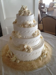 Waves Crashing Wedding Cake
