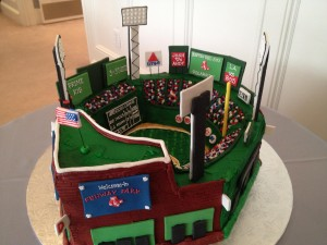 A Fenway Park Grooms Cake