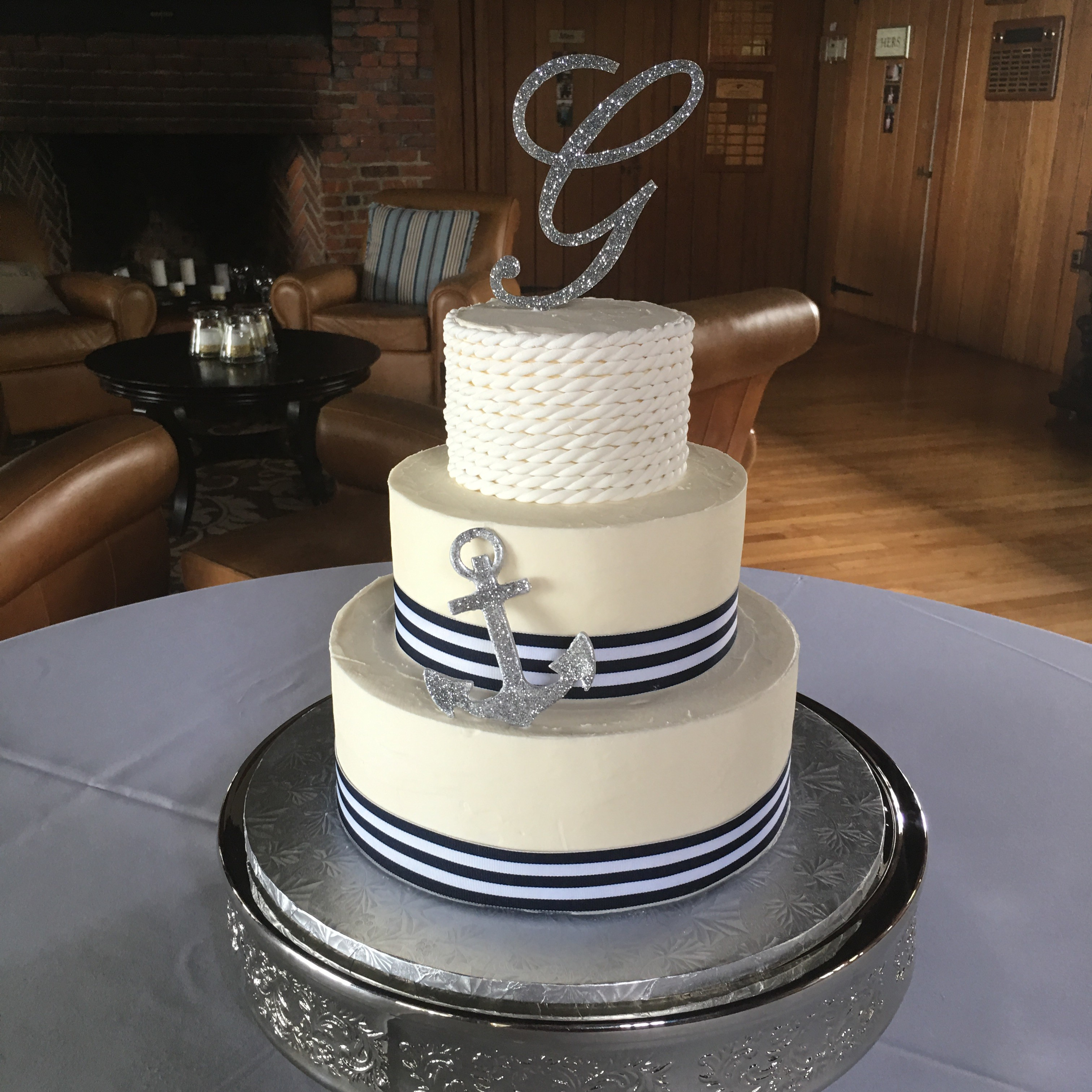 anchor themed wedding cakes s sweetcakes and nautical cakes 10748